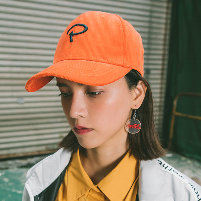 c6e7744044de67 drop shipping Handsome American embroidered hard top corduroy baseball hat  for men and women autumn and winter simple cap