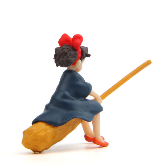 Little Girl Sitting On The Broom Flying Doll Diy Dolls Crafts Home Decoration Accessories Feng Shui Miniatures Figurine Garden 3
