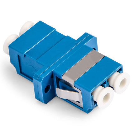 50pcs LC-Duplex-with Flange-Blue /Optic Fiber Adapter