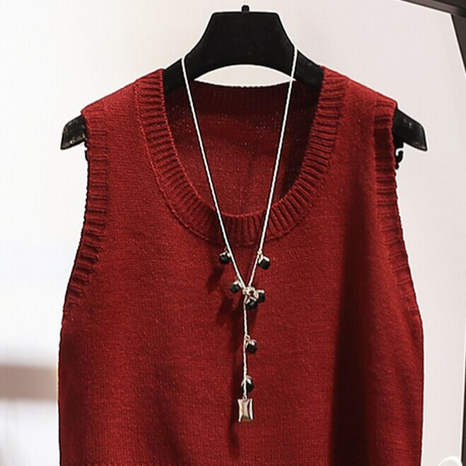 2018 Promotion Limited Thin Poncho Sweater Cardigan Women All Season Matched O-neck Pullover Sleeveless Solid Tank Medium Vest