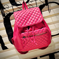 2016 New Good Quality 4Colors Fashion PU Leather Backpacks Women Mini Cute Drawstring Travel Backpack For Teenage Girls Zaino