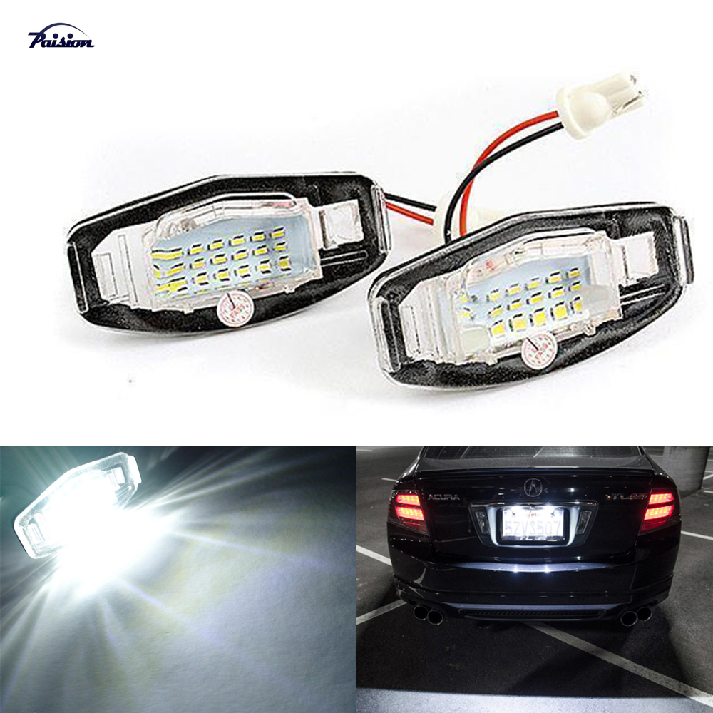 2Pcs Canbus LED Number License Plate Light For Acura MDX