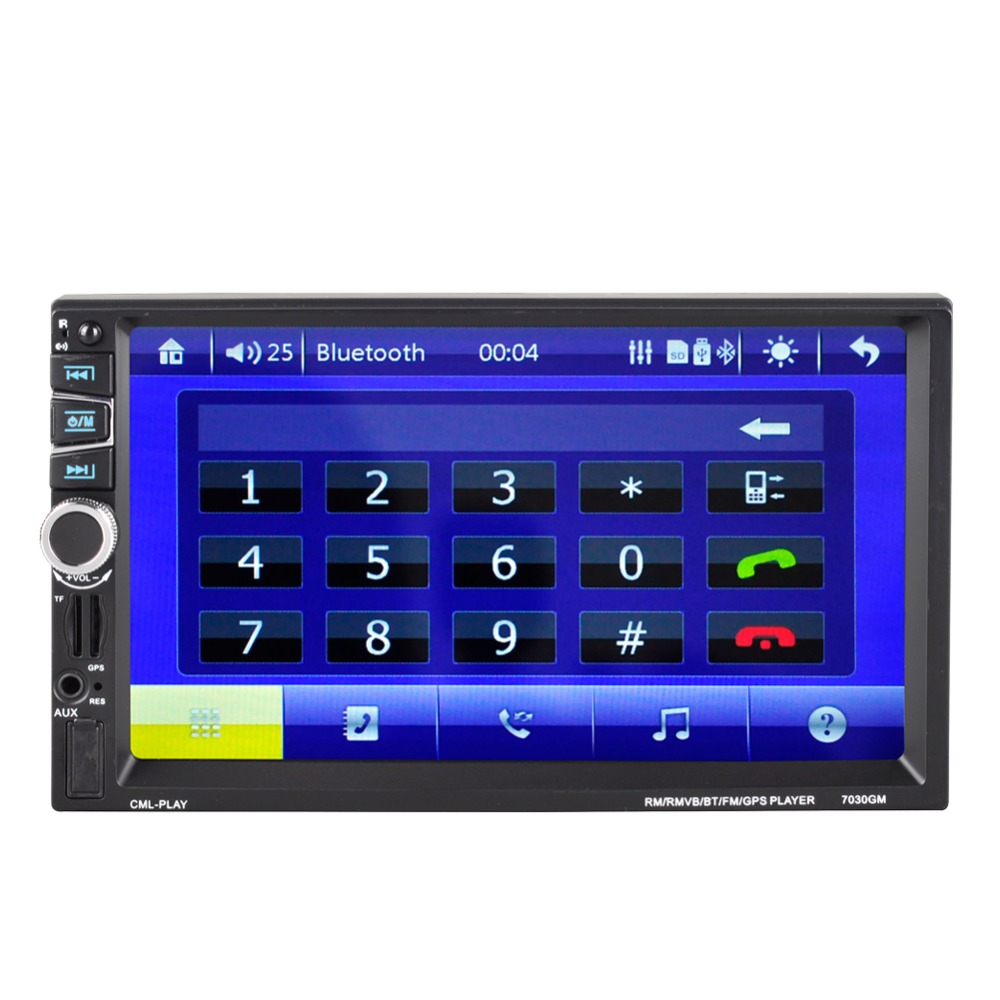Image 3 - 7030GM  7 inch navigation MP5 player MP5 multi function player GPS navigation radio playback-in Vehicle GPS from Automobiles & Motorcycles
