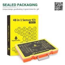 Najnowszy! Keyestudio 48 w 1 zestaw startowy czujnika z pudełkiem na projekty Arduino DIY (48 sztuk czujników)