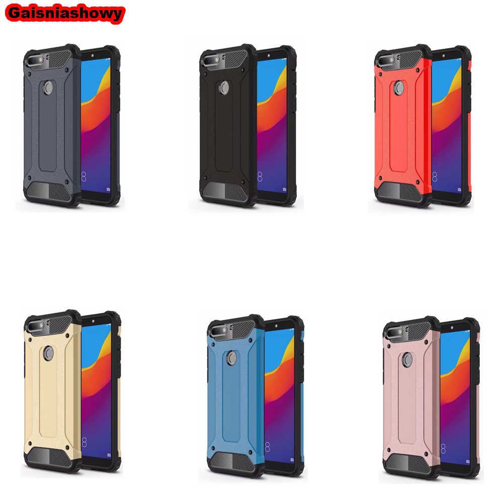 Case For Huawei Y6 2018 Hard PC Silicone Case for Huawei Y5 Y6 Y7 Y9 Prime 2017 2018 2019 Soft TPU Phone Case Cover Shell Coque