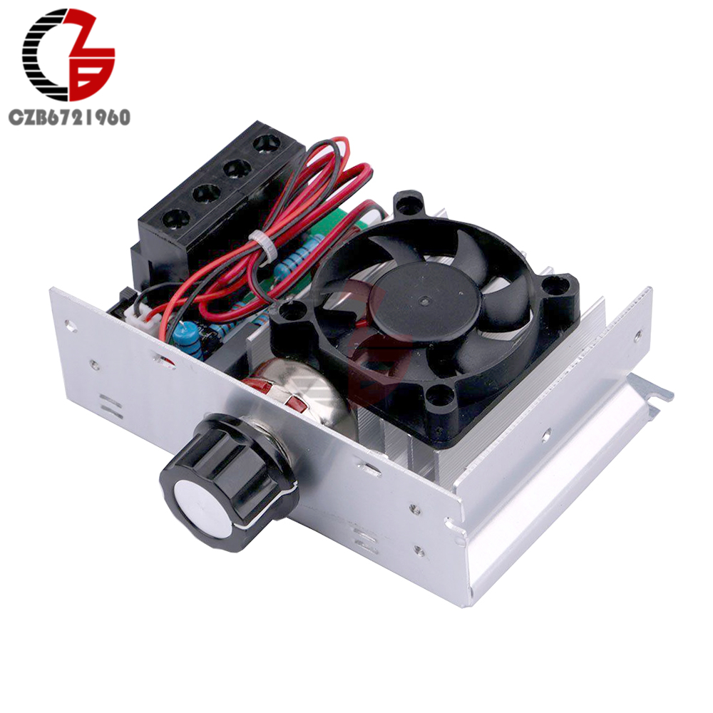 10000W High Power SCR Voltage Regulator Speed Controller Temperature Control Switch Dimmer Thermostat Cooling Fan 110V 220V AC
