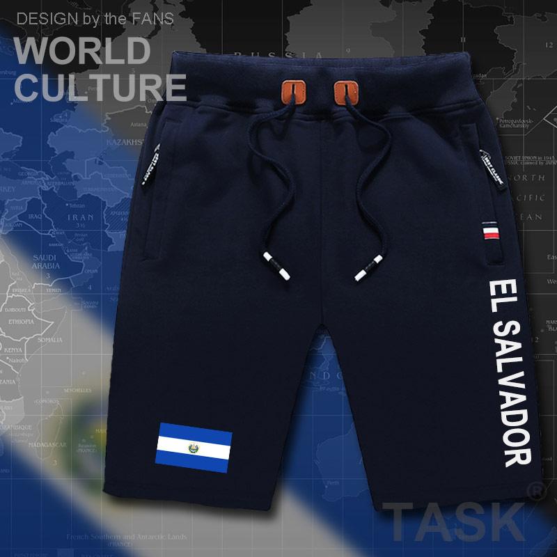 Сальвадор мужские Шорты пляж человек Мужская Пляжные шорты флаг тренировки карман на молнии пот бодибилдинга 2017 хлопок Сальвадора slv