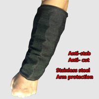 1 Pair Anti Cut Safety Sleeve Stainless Steel Arm Protection Wrist Defense Armband Anti Stab Forearm