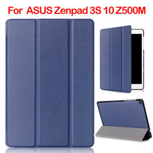 "ZenPad 3S 10 Z500M PU Leather Case Tablet Cover 9.7"" Slim Auto Sleep Cases For ASUS Zenpad 3S 10 Z500M Protective Stand Fundas"