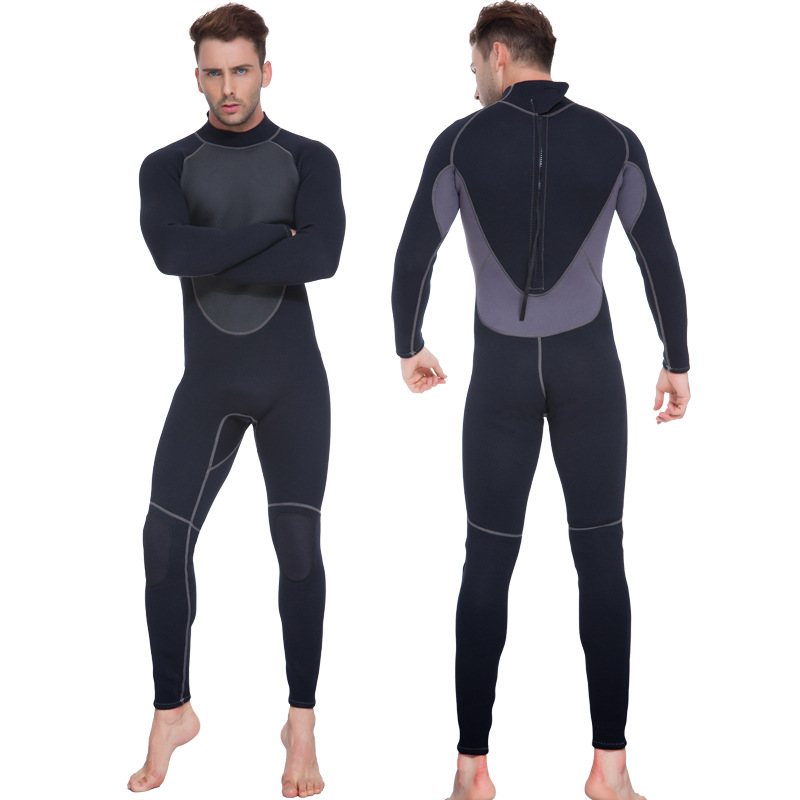 3mm Neoprene Scuba Dive Wetsuit For Men Spearfishing Wet Suit Surf Diving Equipment slinx two piece men camouflage wet suit swimwear with headgear 5mm neoprene camo scuba diving suit for fishermen spearfishing