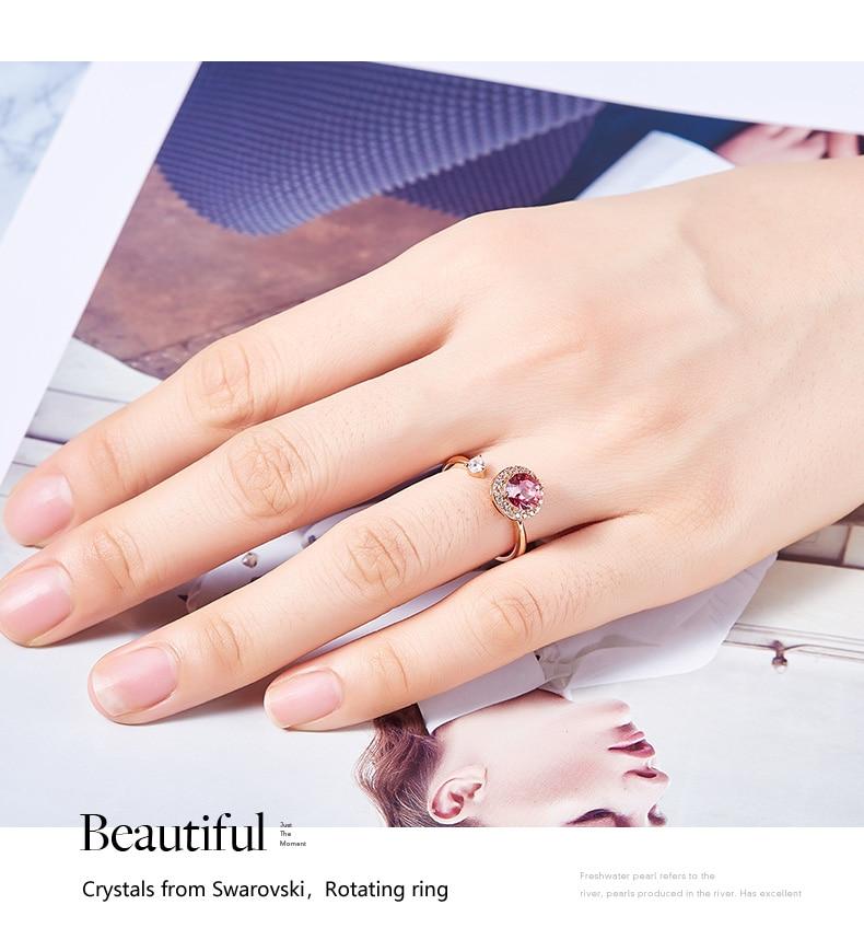 Pink Crystals Rose Gold Ring (6)