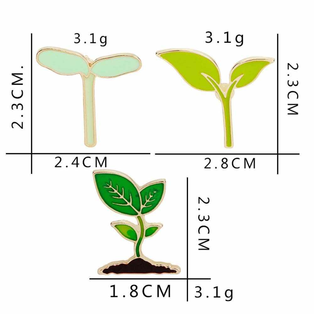 Funique desenhos animados plantas pinos crachá adorável árvore mudas em vaso colar sapato broche coqueiro cacto folhas roupas decorativas