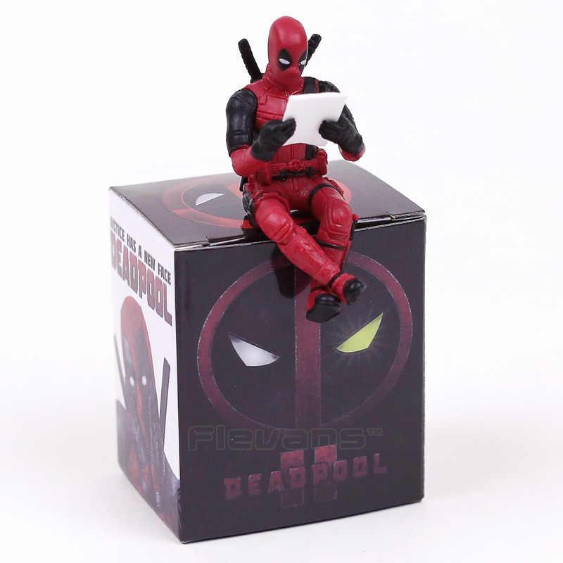 Novo Filme Deadpool 2 Mini PVC Figura Collectible Toy Modelo Boneca Decoração Da Tela Do Computador 6 cm