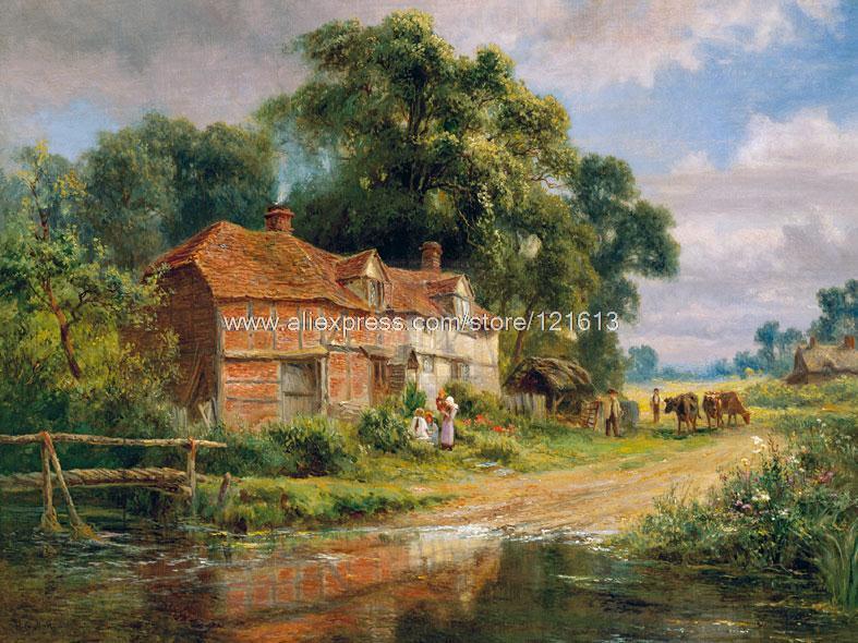 Popular Farm Landscape Painting-Buy Cheap Farm Landscape