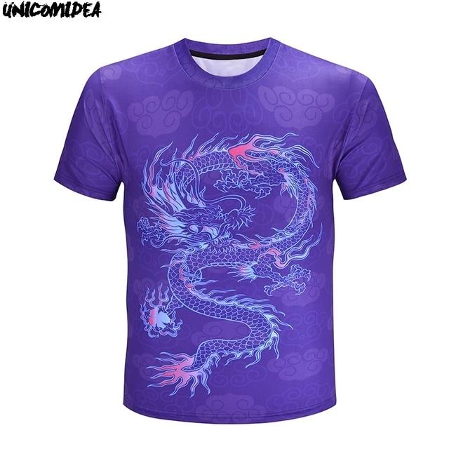 dda51361a7fd 3D Print Tshirt Hip hop Style Purple Chinese dragon Floral Shirts cotton t- shirt summer marvel t shirt men Casual Top Tee