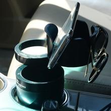 DWCX Multi Function Car Drink Cup Holder Phone Storage Box Auto Sunglasses Coins Keys Organizer