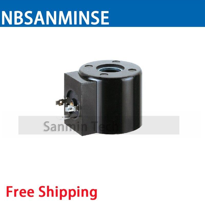 16432 Water Valve Series Coil Electrical Solenoid Valve Coil AC220V , DC24V Voltage DIN43650A Valve Coil Sanmin