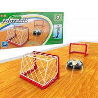 Floating LED Football Toys Air Power Soccer Disc Hovering Football Game Light Toy Flashing Ball Toys with Soccer goals