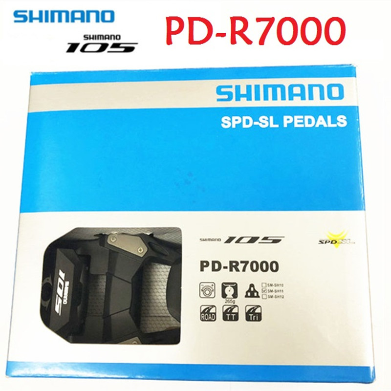 Genuine SHIMANO 105 PD R7000 CARBON Road Bicycle Self Locking SPD Pedals Bike Pedal with SH11