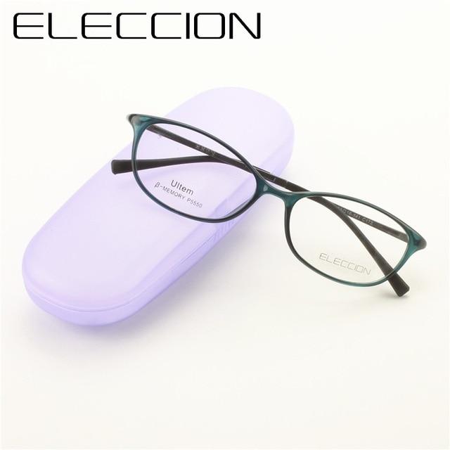 d71d131906 ELECCION Fashion Cat eye Style High Quality ULTEM Spectacle Frames for Women  Myopia Prescription Eyeglasses Female