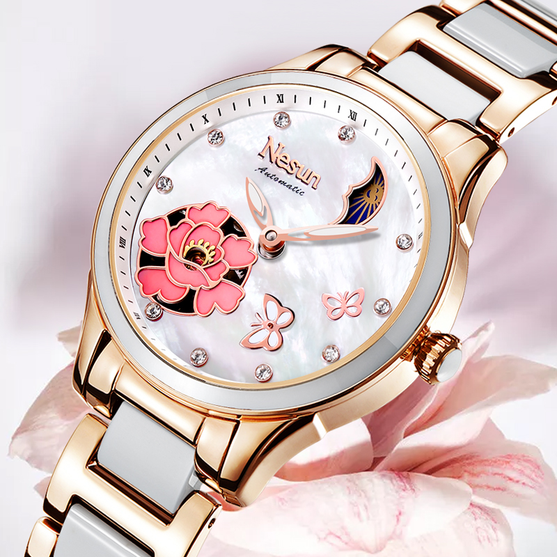 Womens Watch Brand Luxury Fashion Ladies Watch Flower Rhinestone Rose Gold Bracelet Watch Hour Relogio Femenino Watches FemmeWomens Watch Brand Luxury Fashion Ladies Watch Flower Rhinestone Rose Gold Bracelet Watch Hour Relogio Femenino Watches Femme