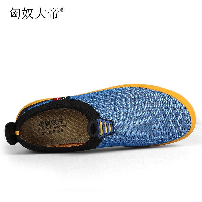 Bleu De Maille gris Les D'été Sur vert Respirant Mocassins Glissement Chaussures Zapatillas Marque Taille 47 Hombre 38 Hommes Grande Sport Luxe wUqIZx