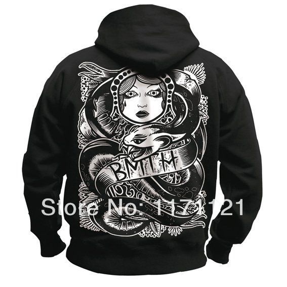 Free shipping Bring Me The Horizon metalcore DEATHCORE BAND Soldier BMTH SWEAT HOODIE