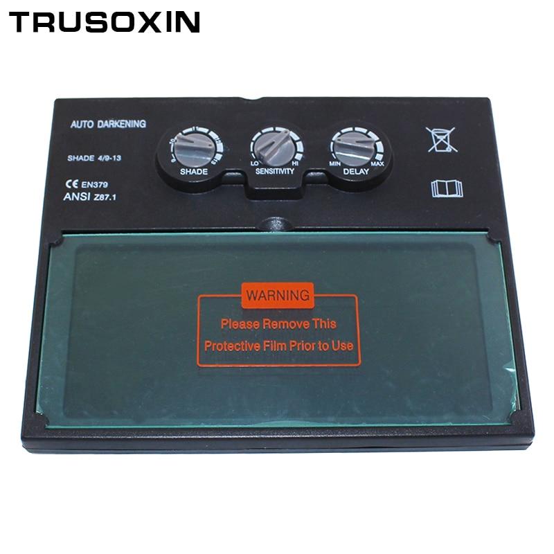 Li bateria solar escurecimento automático/lente de filtro de soldagem sombreamento para a máscara de soldagem e capacete de soldagem