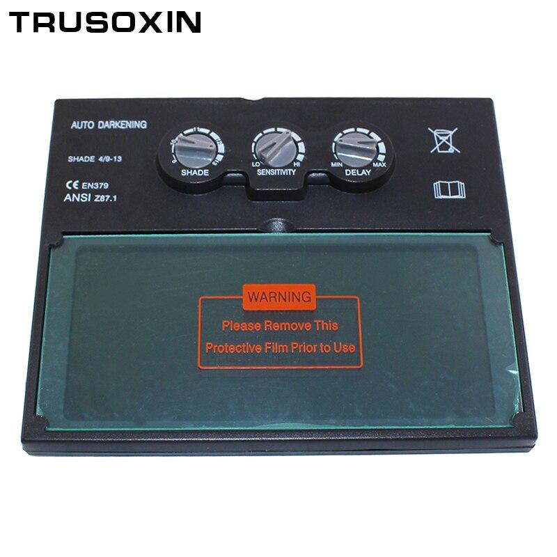 LI batterie solar auto verdunkelung/beschattung schweißen filter objektiv für die schweiß maske und schweißen helm