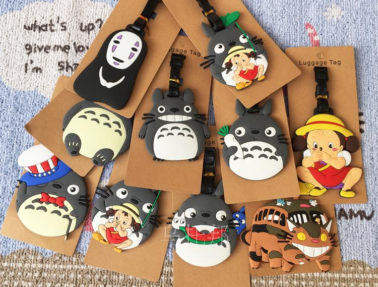 Travel Accessories Luggage Cover Totoro Cute Girl Luggage Bags Accessories Pvc Travel Label Straps Suitcase Tag Portable Anime