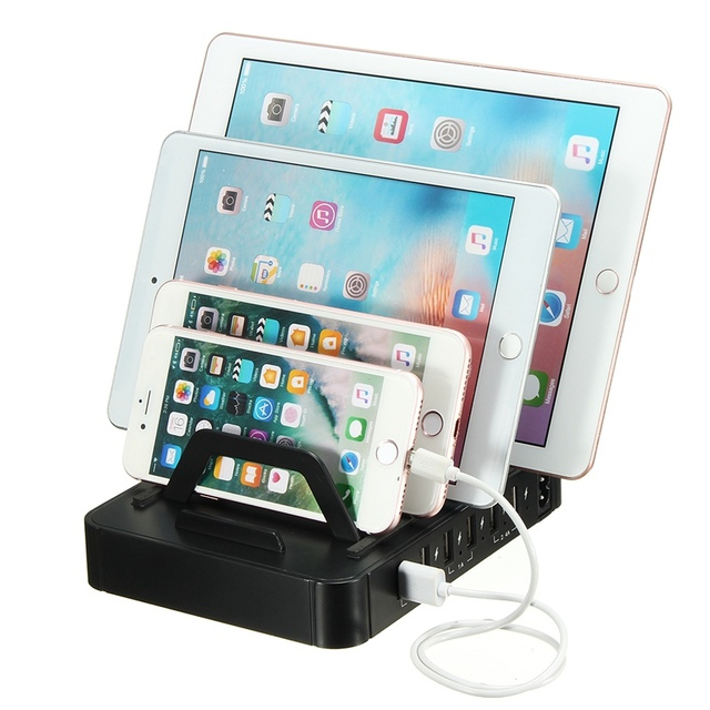 2 In 1 Multifunction Universal USB Charging Station Cell Phone Tablet  Charger Organizer Tablet Holder Stand