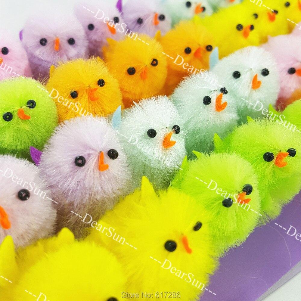 36Pcs//Pack Mini Cute Easter Chicks Children DIY Easter Egg Bonnet For DIY Decor