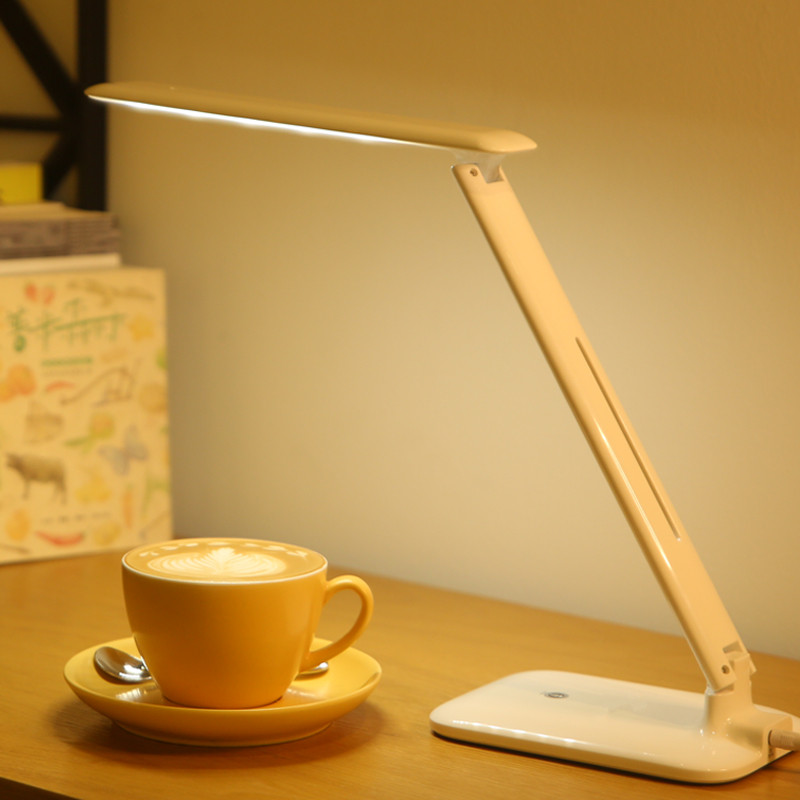 Rechargeable LED reading desk lamp USB retractable dimming LED table lamp Touch the switch Office study lights indoor lighting 4 level brightness led office table desk lamp touch dimming rechargeable bedside reading light for study engineer architect