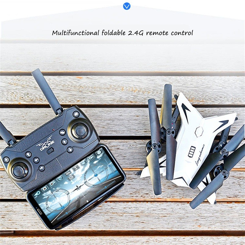 RC Helicopter Drone with Camera HD 1080P WIFI FPV Selfie Drone Professional Foldable Quadcopter  Minutes Battery Life 6