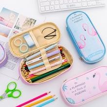 Pencil case flamingo High capacity school supplies kalem kutusu kawaii  capacidad bag material lapiz etui pennen estuche piornik