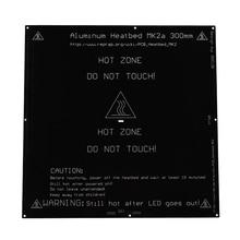 BIQU MK2A 300*300*3.0mm RepRap RAMPS 1.4 PCB Aluminum Heatbed  Hot Plate For Mendel For 3D Printer MK2B