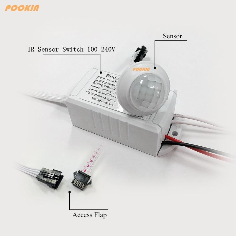 110 В ~ 220 В 200 Вт ИК Сенсор и человеческих Средства ухода за кожей индукции переключатель энергосберегающие движения Сенсор авто на выключени... ...
