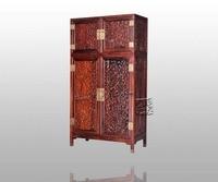 Europe And America Antique Rosewood Wardrobe Bed Room Solid Wood Furniture Padauk Garderobe Flat Sliding Door