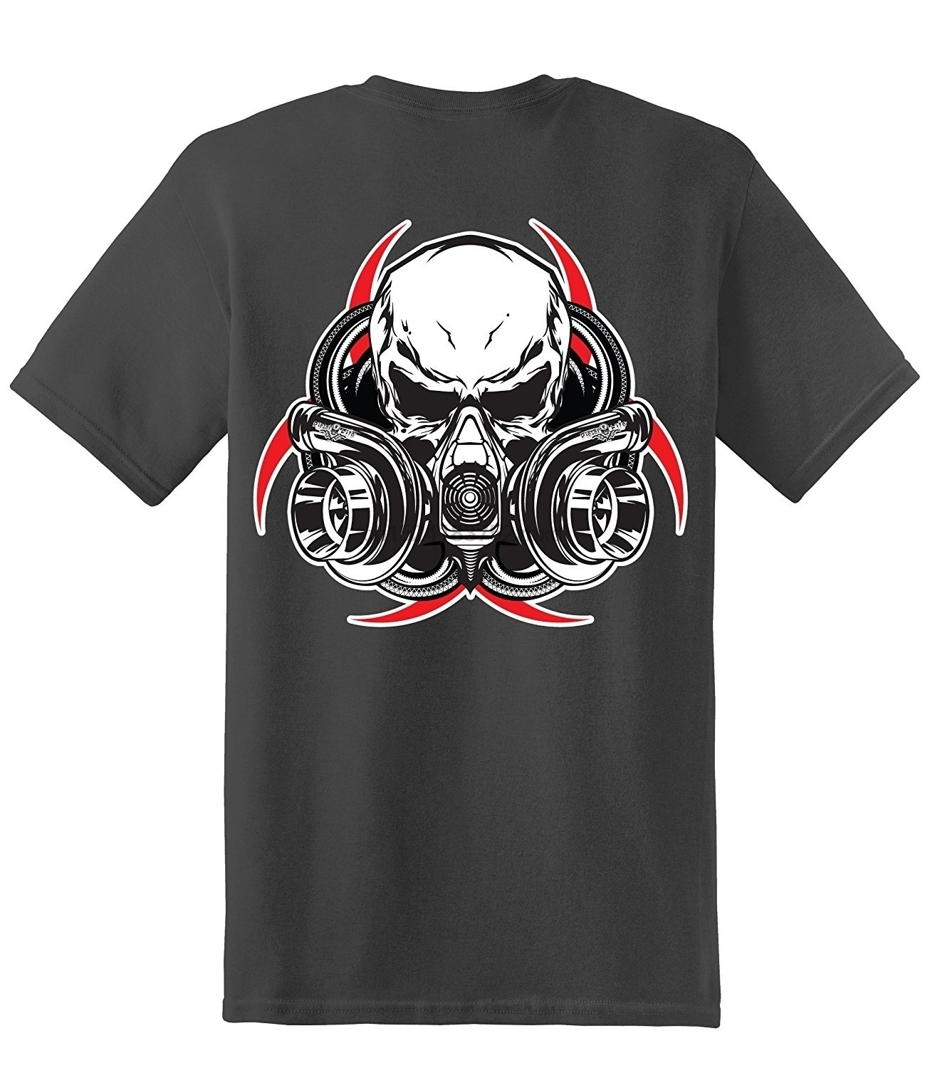 Orderly Cotton Letter Print T-shirt Gas Mask Short Sleeve Summer Fashion Style T-shirt Charcoal Distinctive For Its Traditional Properties Tops & Tees T-shirts