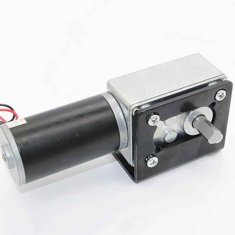 New DC high torque turbo worm gearbox micro-motor Right Angle geared motor  - 12V 80RPM