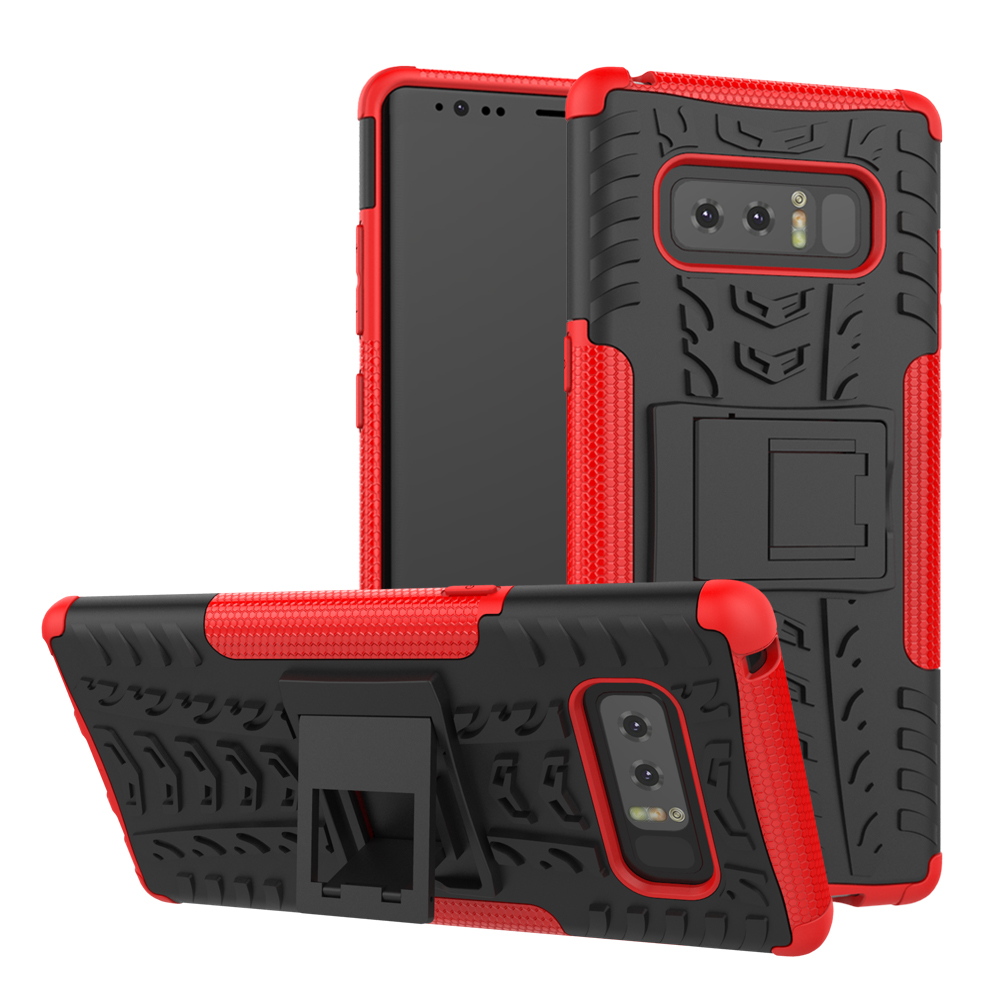 Hybrid Armor Stand Holder Hard For Samsung Galaxy Note 8 Case Protective PC+TPU Soft Gel Skin Back Cover
