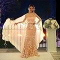 Шампанское Кружева Аппликации мать невесты платья Длинные Мать Платья Для Свадьбы Вечернее Платье