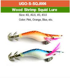wood shrimp squid lure