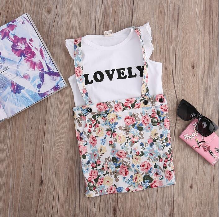 2pcs व्याकुल लड़की के आउटफिट - बच्चों के कपड़े