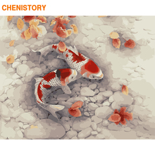 CHENISTORY Frame Fish DIY Painting By Numbers Animals Paint By Numbers Modern Wall Art Picture Canvas Painting For Home Decors