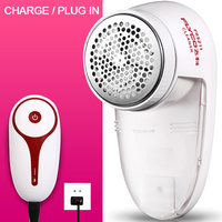 Charge Or Plug In Type Electric Fluff Lint Remover White And Red Icobbler Pellet Quilt Ball