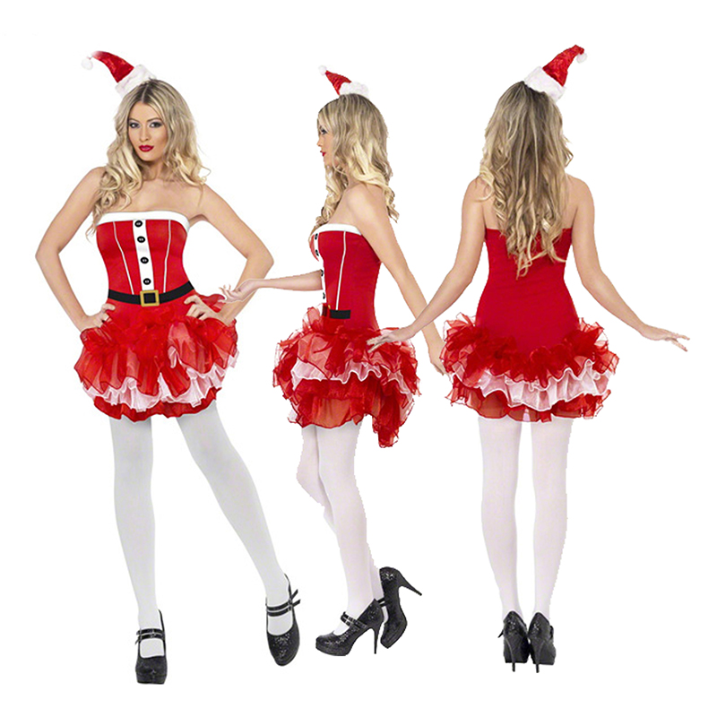 2018 Christmas Christmas uniforms temptation Christmas night women play red sexy costume party costumes Cosplays party