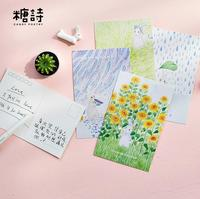30 Pcs Pack Waiting Your Season Rabbit Stickers Greeting Card Postcard Birthday Letter Envelope Gift Card
