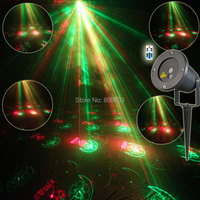 New Arrival Remote R G Outdoor Waterproof Xmas Laser Projector 12 Patterns Landscape Light Club Party