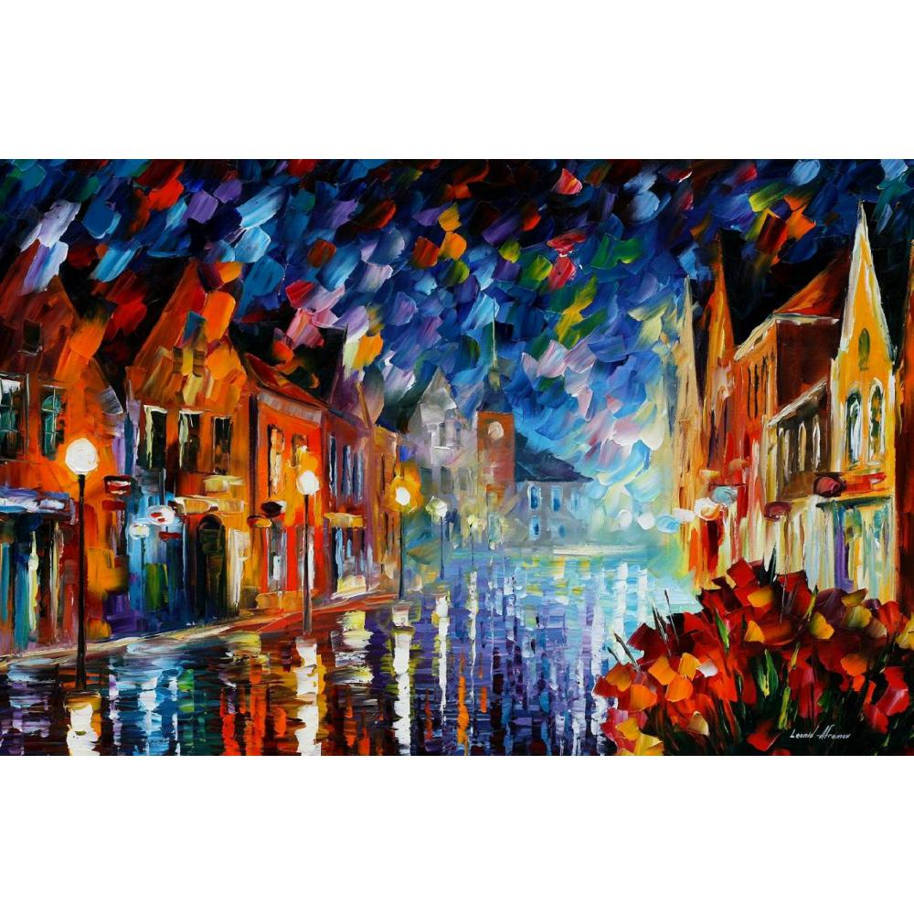 Beautiful landscape paintings frozen night palette knife art on canvas wall pictures for living roomBeautiful landscape paintings frozen night palette knife art on canvas wall pictures for living room